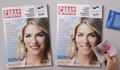 Anúncio permite remover maquiagem em capa de revista