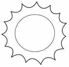 Sun Crafts, Diy And Crafts, Crafts For Kids, Arts And Crafts, Sun Coloring Pages, Coloring Sheets, Patch Aplique, Ideas Para Fiestas, Christmas Clipart