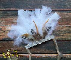 Newborn Indian Headdress feathers headband by Doodlebopperz, $28.00