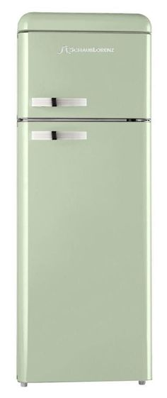 Stylish black Schaub Lorenz refrigerator with built-in freezer at ... | {Kühlschrank retro mint 35}