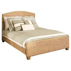 Woven banana leaf bed.  Product: Queen bedConstruction Material: Hardwood and woven banana leavesCol...$569
