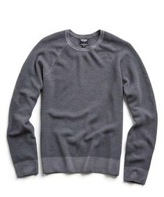 32c7d2574c830d Garment Dyed Merino Wool Ribbed Sweater in Light Grey Grey