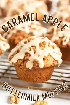 The key ingredient in Caramel Apple Buttermilk Muffins is not the caramel or the apples, it's the buttermilk that makes these muffins so incredible.