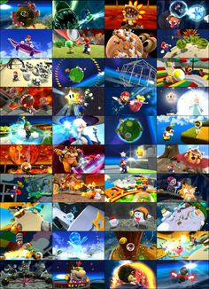 Super Mario Galaxy credits images