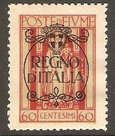 Fiume 1924 60c Rose - Regno d'Italia Overprint. SG220.