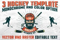 Authentic Hockey Set by Agor2012 shop on @creativemarket