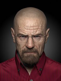 Breaking bad, wandong xu on ArtStation at… Face Photography, Street Photography, Breaking Bad Art, Walter Breaking Bad, Breakin Bad, Digital Sculpting, Walter White, Male Face, Zbrush