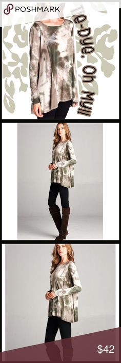 """Pre-Sale and reserve at a discounted price! Pre-Sale and reserve at a discounted price. Gorgeous off-the-shoulder flares leaved tunic in divine Autumn colors. Reserve sale price by CLICKING the """"like"""" button AND LEAVING A COMMENT INDICATING THE SIZE you want to reserve by Oct. 7th. First come first serve.  Discounted price is $36 and goes up to $42 on October 10th. Boutique Tops"""