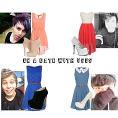 """On A Date With 5SOS"" by taherah-begum-1 on Polyvore"