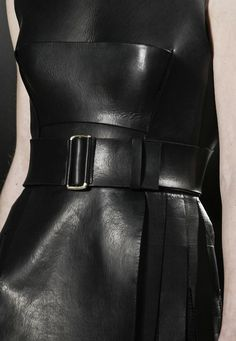 calvin klein, black leather