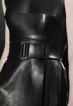 calvin klein, black leather