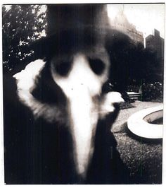 Creepy Pictures - black plague doctors wore masks like this filled with scents to ward off the smell of disease