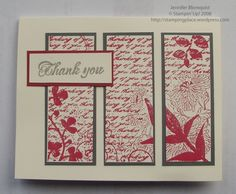 Thank-you card. I like the cutting of an image into multiple panels!