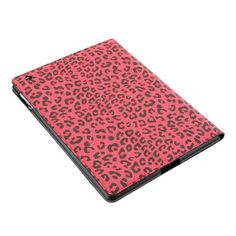 Leopard Print Rotating Stand Smart Cover Swivel Hard Case For iPad 3/The New iPad - Red US$22.58