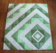 The beauty of this is in the quilting. Very wonderful work to whoever did that…