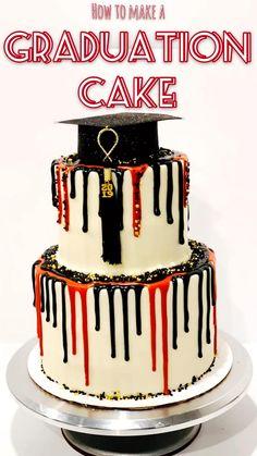 Graduation Party Desserts, Graduation Cupcakes, Graduation Party Decor, College Graduation, Cake Decorating Videos, Cake Decorating Techniques, First Communion Cakes, Paris Cakes, Book Cakes