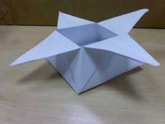 origami caja estrellada.Tutorial