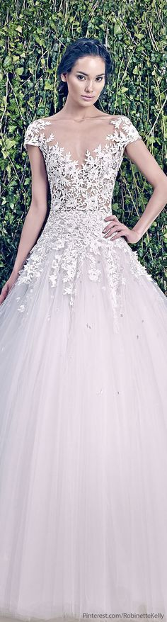 Zuhair Murad Bridal | F/W 2014. love the way it creeps over her skin but definitely would have it more covered