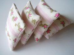 Shabby Chic Dollhouse Miniature Cloth Pillows by AMarigoldLife, $14.00