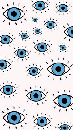 Iphone Wallpaper Eyes, Bear Wallpaper, Aesthetic Iphone Wallpaper, Cartoon Wallpaper, Pattern Wallpaper, Aesthetic Wallpapers, Wallpaper Backgrounds, Evil Eye Art, Indie Drawings