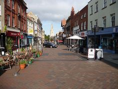One of the main city center streets, Gloucester, UK