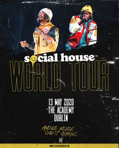 Buy Social House tickets from Ticketmaster IE. Social House tour dates, event details + much more. Tour Posters, Movie Posters, Dating, Tours, Concert, Artist, Quotes, Film Poster, Popcorn Posters