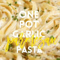 The easiest and creamiest pasta made in a single pot – even the pasta gets cooked right in the pan! # pasta recipes easy One Pot Garlic Parmesan Pasta Easy Pasta Recipes, Cooking Recipes, Healthy Recipes, Cooking Games, Cooking Box, Spaghetti Recipes, Cooking Utensils, Delicious Pasta Recipes, Easy Recipes For Dinner
