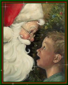 There is a Santa Claus, illustration by Dan Andreasen Christmas Scenes, Father Christmas, Santa Christmas, Christmas Pictures, Christmas Holidays, Xmas, 6 Images, Santa Claus Is Coming To Town, Theme Noel