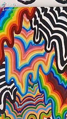 Diy Bedroom Decor For Teens, Hippie Bedroom Decor, Indie Room Decor, Aesthetic Room Decor, Room Ideas Bedroom, Hippie Painting, Trippy Painting, Cute Canvas Paintings, Diy Canvas Art