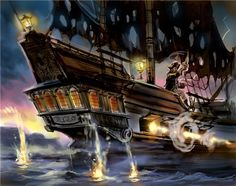 Disneyland's Pirates of the Carribean attraction concept art
