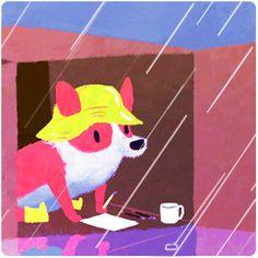 Illustrator Olivia When makes cute sherlock fan animals (sherlock as otter!!!!!!)