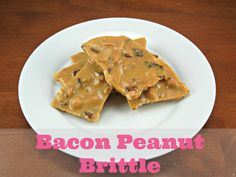 Bacon Peanut Brittle : : : Bacon Peanut Brittle is a sweet meets salty treat! Great for gift giving to sweet toothed bacon lovers. Bacon Peanut Brittle Recipe, Brittle Recipes, Peanut Butter Recipes, Recipes Using Bacon, Nut Recipes, Candy Recipes, Delicious Desserts, Yummy Food, Rice Krispie Treats