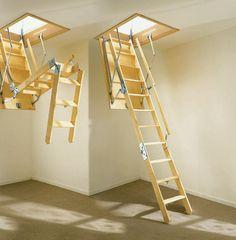 Calvert folding attic stairs with handrail at top //.calvertusa.com/id123.html | Accessing the Attic | Pinterest | Attic stairs Attic and Ceilings & Calvert folding attic stairs with handrail at top http://www ...