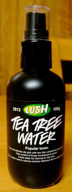 love this toner, very fresh and refreshing #lush #tea tree water