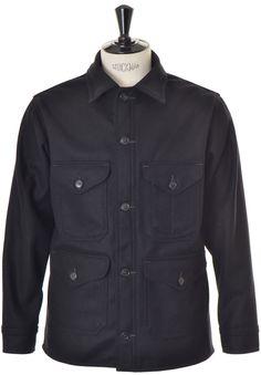 POST OVERALLS Cruzer7 Jacket Wool Melton - Black