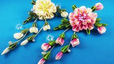 Ribbon flower.DIY/ Flor de las cintas.CM/ Цветок из лент.МК