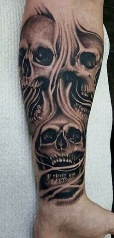Jan 2020 - Throw another log in the campfire and get ready to explore the best smoke tattoos for men. Discover matter transforming to into spiritual designs. Evil Skull Tattoo, Evil Tattoos, Skull Sleeve Tattoos, Skeleton Tattoos, Skull Tattoo Design, Best Sleeve Tattoos, Badass Tattoos, Sleeve Tattoos For Women, Arm Tattoos For Guys