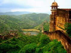 The famous Jaighar fort overlooking the lush green Valley