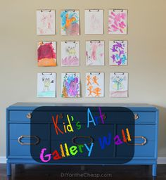 Create a kid art gallery wall