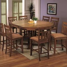 Round Counter Height Dining Table With Leaf