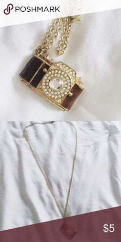 Vintage camera necklace This necklace is definitely one of my all time favorites, but I haven't been wearing it enough.  *I do offer custom bundle on all of the items in my closet* Forever 21 Jewelry Necklaces
