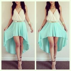 Mint green skirt