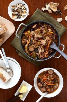 Legend has bigos appearing in the late 14th century in Poland where Lithuanian Prince Wladislaus served it to his hunting party. This rustic hunter's stew contained sauerkraut and wine brought from home, and featured freshly killed hare, venison, boar and pheasant, all of which were abundant in the Polish forests. Bigos grew in popularity and is now Poland's national dish.