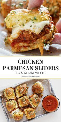 Chicken Parmesan Sliders: Fun Mini Sandwiches