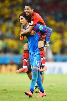 Guillermo Ochoa of Mexico after playing miraculous as goalie against Brazil (not allowing any goals) at 2014 World Cup. After the game he started getting calls from Manchester United, Liverpool, Bayern Munich, Barcelona, and other top club teams. Talk about having a good day.