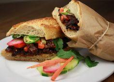 Vegan Bánh mì sandwich recipe.  #veganrecipe #vegetarian #fieldroast