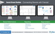 Want to manage your Brand Reputation, Sales Performance and Customer target groups from the cloud?   Jibe's Social Brand Builder can do just that!  #marketing #intelligence #bigdata