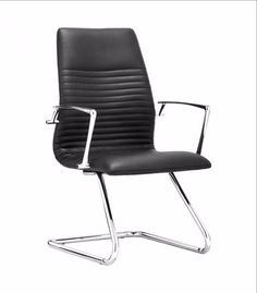 Lion Conference Chair Black - 206176Description :Simple yet stately, the Lion Conference Chair owns the room. The fun lies in the details, like the shiny chrome frame and soft padded seat. Comes in black or white leatherette.Color :BlackProduct Cover (Upholstery Material or Type of Metal) :LeatheretteProduct Finish (Structure Materiel or Type of Wood) :Chromed SteelDimension : Chair : 21.7