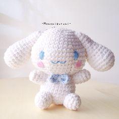 Cinamoroll by momomigurumi on Etsy Kawaii Crochet, Cute Crochet, Crochet Crafts, Crochet Dolls, Amigurumi Doll, Amigurumi Patterns, Crochet Patterns, Yarn Projects, Crochet Projects