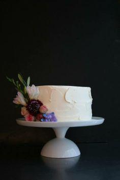 Small wedding cake, by Sugarplum Cake Shop